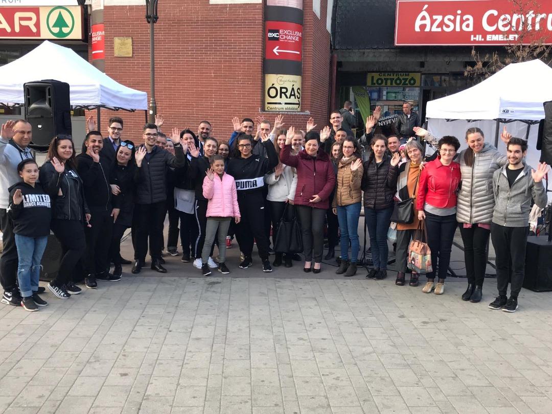 Street Evangelism Rally in Miskolc, Hungary
