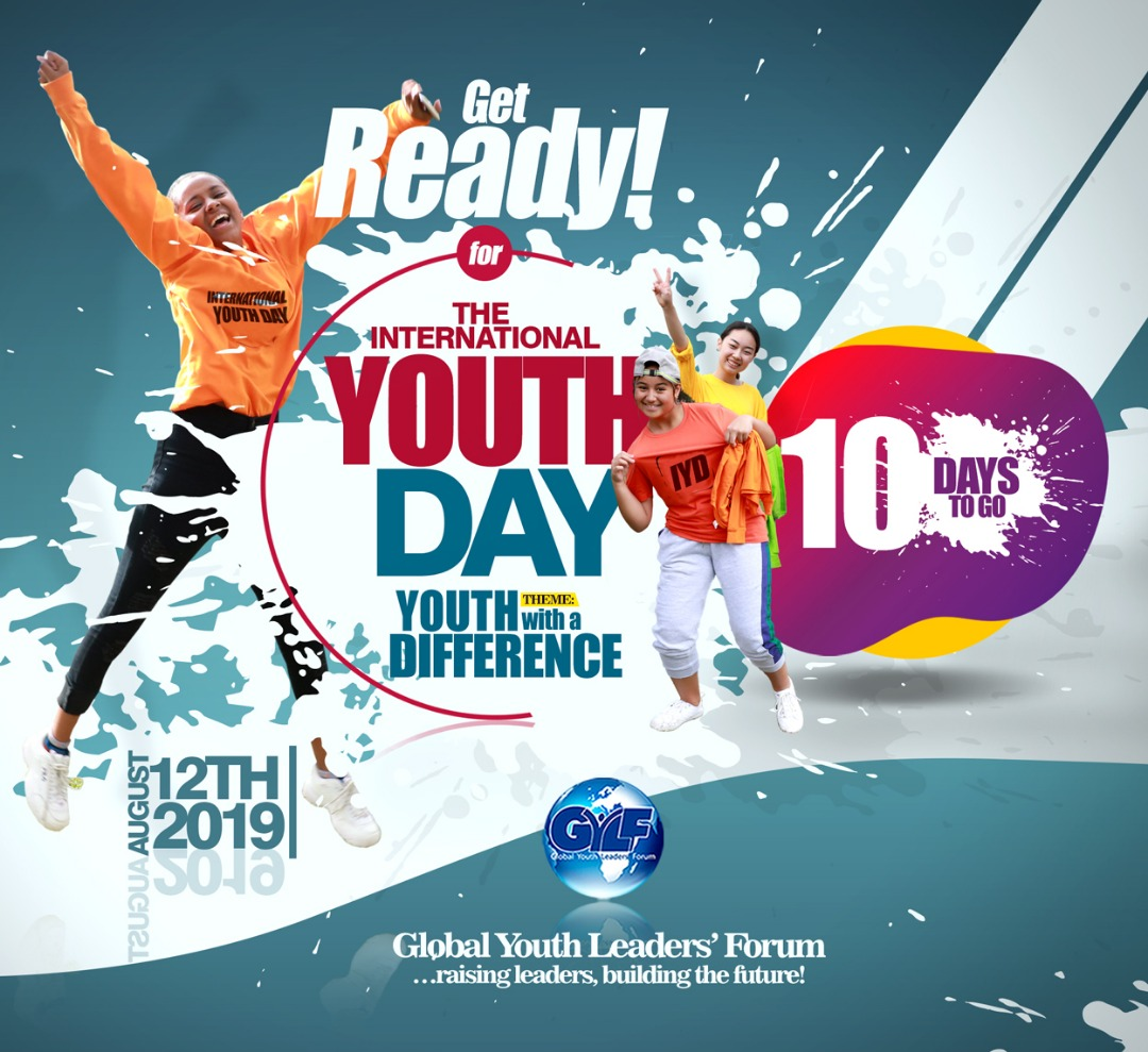 IT'S 10 DAYS TO THE INTERNATIONAL YOUTH DAY 2019