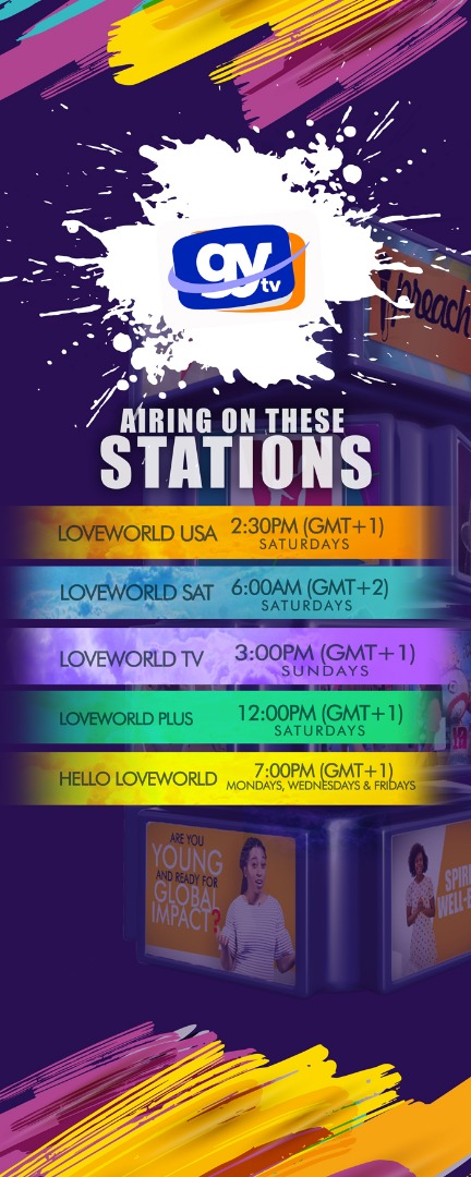 Watch exciting episodes of the GYTV on all Loveworld Stations this weekend.