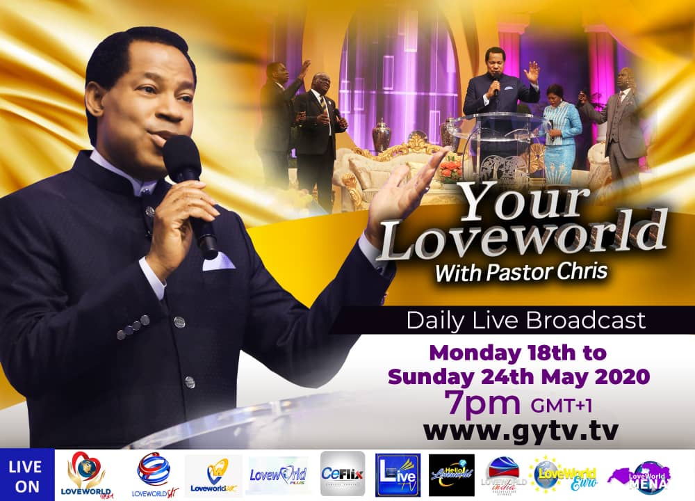 YOUR LOVEWORLD WITH OUR DEAR MAN OF GOD PASTOR CHRIS (PHASE 6) STARTS TODAY!