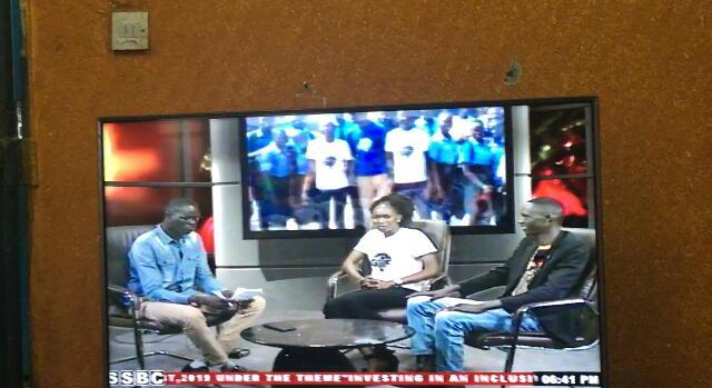 GYLF Ambassadors in Juba, South Sudan sharing their impact on SSBC TV.
