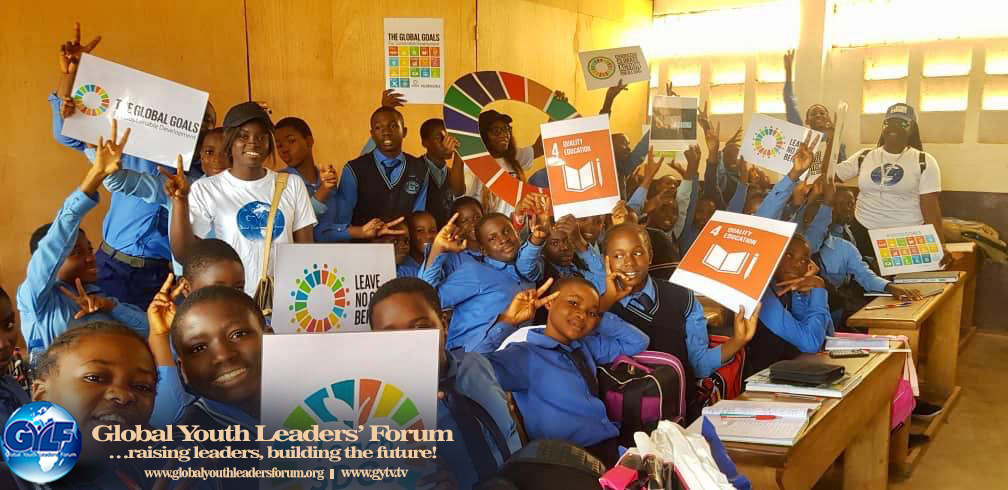 THE GYLF CHAPTER IN YAOUNDE, CAMEROON COMMEMORATES THE SUSTAINABLE DEVELOPMENT GOALS' ACTION WEEK BY THE UNITED NATIONS